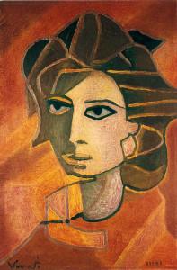 Ritratto di donna, olio su tela, 30×40 cm, 1971 NUMERATA: 1101.