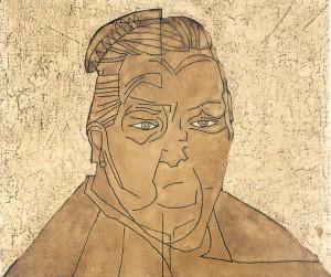 La nonna, olio su cartone telato, 40x45 cm, 1976. RETRO: 03120; da La prima comunione, Repertorio Uno